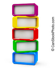 Five rectangle - five steps