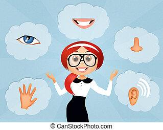 Five Senses - illustration of five Senses