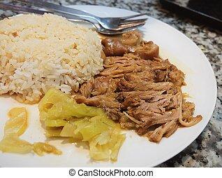 Five Spice Stew with Pork Leg on Rice