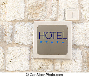 Five star hotel sign