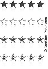 Five Star Quality Award Icons