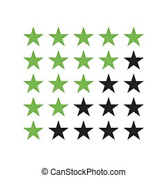 Five star rating customer review icon vector illustration