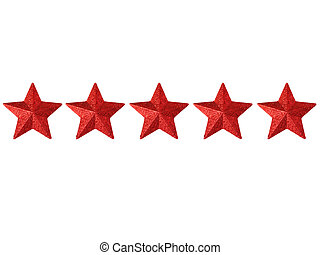 Five Stars - Five shining stars isolated on a white...