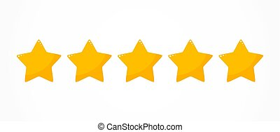 Five stars quality rating icon