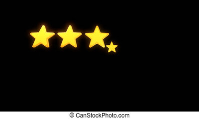 Five Stars Rating appearing dynamically in turn from the ...