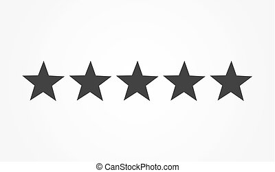 Best luxury home rating - five stars - vector flat icon clip art ...