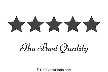 Five stars rating symbol of quality