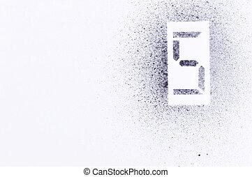 five stencil number