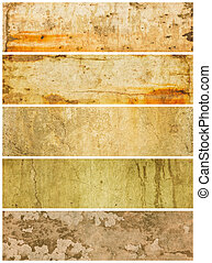 Five Textured Grunge Panels