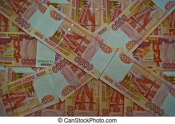 Five thousand Russian banknotes