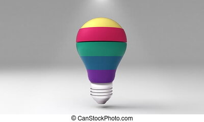Five title 3D bulb shape box, visualization shape a light bulb, presentation templete.(included alpha)