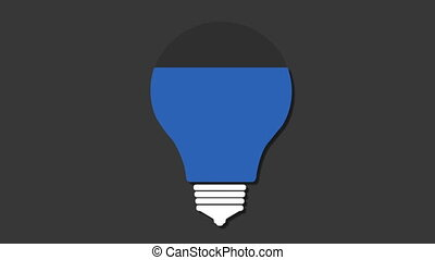 Five title box, visualization shape a light bulb,...