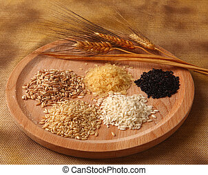 Five types of rice