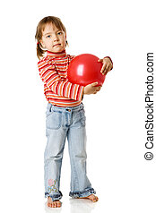 girl holding ball