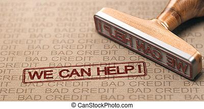 fix., concept., dette, solutions, mauvais crédit