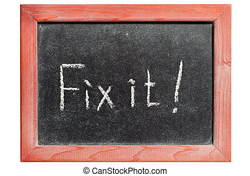 fix it exclamation handwritten on isolated vintage...