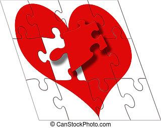 Fix jigsaw piece - Fix the heart