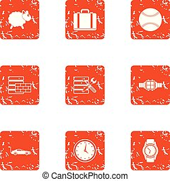 Fix time icons set, grunge style - Fix time icons set....