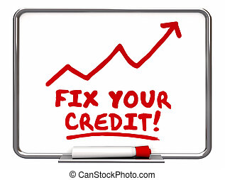Fix Your Credit Arrow Going Up Improvement Words 3d...