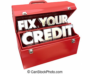 Fix Your Credit Score Rating Repair Improvement Red Toolbox...