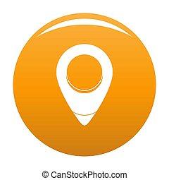 Fixation pin icon orange