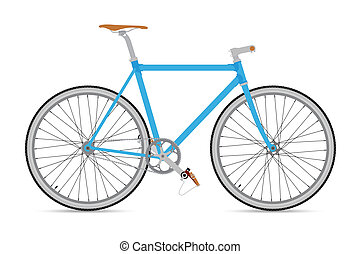 FIXED GEAR BICYCLE Vector and Illustration
