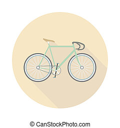 fixed gear - retro bicycle, no breaks, no gears, flat style
