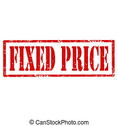 Fixed Price-stamp - Grunge rubber stamp with text Fixed...