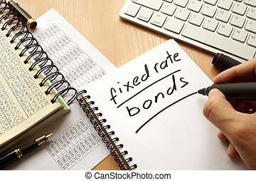 Fixed rate bonds written in a note.