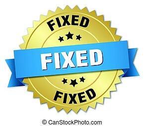fixed round isolated gold badge