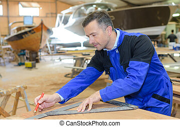 fixing a boat