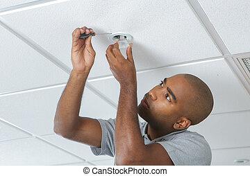 fixing a light fixture
