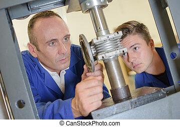 fixing a machine