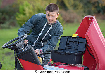 fixing an expensive lawn mower