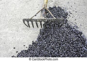 fixing bad road