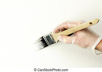 Fixing to Sell - Home touch up painting off-white paint on...