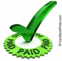 fizetés, jóváhagyott