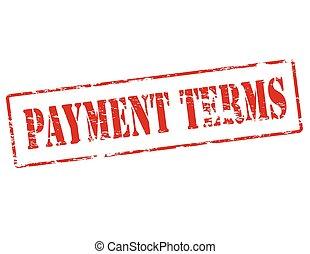 fizetés, kikötések