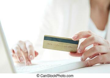 fizetés, online