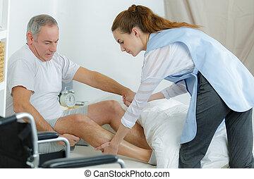 fizjoterapia, nowoczesny, rehabilitacja