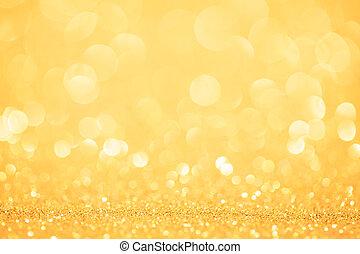 fjäder, guld, eller, bakgrund, sommar
