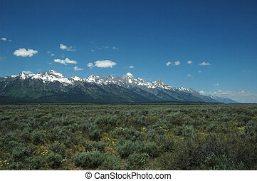 fjäder, mountains