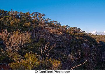 fjäll, utkikare, blå fjäll, australien