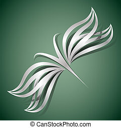 fjäril, begrepp, design