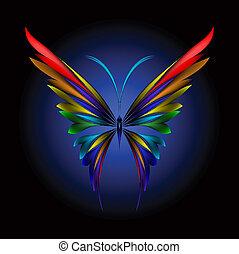 fjäril, enkelt