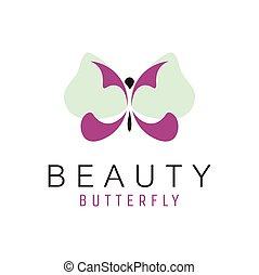 fjäril, logo