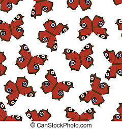fjäril, mönster, seamless