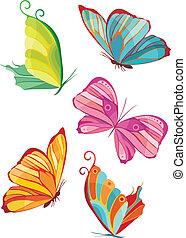 fjäril, sätta