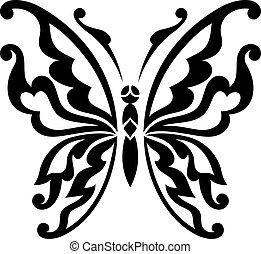 fjäril, vektor