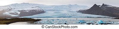Fjallsarlon Glacial Lagoon Iceland Panorama